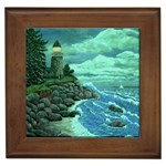 Jerrys Lighthouse -  Ave Hurley - Wrap Canvas Version Framed Tile