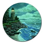 Jerrys Lighthouse -  Ave Hurley - Wrap Canvas Version Round Mousepad