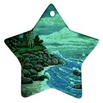 Jerrys Lighthouse -  Ave Hurley - Wrap Canvas Version Ornament (Star)