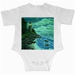 Jerrys Lighthouse -  Ave Hurley - Wrap Canvas Version Infant Creeper