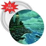 Jerrys Lighthouse -  Ave Hurley - Wrap Canvas Version 3  Button (10 pack)