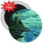 Jerrys Lighthouse -  Ave Hurley - Wrap Canvas Version 3  Magnet (10 pack)