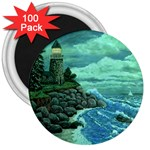 Jerrys Lighthouse -  Ave Hurley - Wrap Canvas Version 3  Magnet (100 pack)