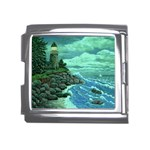 Jerrys Lighthouse -  Ave Hurley - Wrap Canvas Version Mega Link Italian Charm (18mm)