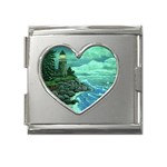 Jerrys Lighthouse -  Ave Hurley - Wrap Canvas Version Mega Link Heart Italian Charm (18mm)