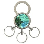 Jerrys Lighthouse -  Ave Hurley - Wrap Canvas Version 3-Ring Key Chain