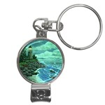 Jerrys Lighthouse -  Ave Hurley - Wrap Canvas Version Nail Clippers Key Chain
