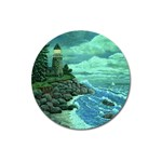 Jerrys Lighthouse -  Ave Hurley - Wrap Canvas Version Magnet 3  (Round)