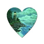 Jerrys Lighthouse -  Ave Hurley - Wrap Canvas Version Magnet (Heart)