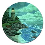 Jerrys Lighthouse -  Ave Hurley - Wrap Canvas Version Magnet 5  (Round)