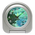 Jerrys Lighthouse -  Ave Hurley - Wrap Canvas Version Travel Alarm Clock