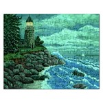 Jerrys Lighthouse -  Ave Hurley - Wrap Canvas Version Jigsaw Puzzle (Rectangular)