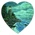 Jerrys Lighthouse -  Ave Hurley - Wrap Canvas Version Jigsaw Puzzle (Heart)