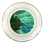 Jerrys Lighthouse -  Ave Hurley - Wrap Canvas Version Porcelain Plate