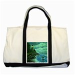 Jerrys Lighthouse -  Ave Hurley - Wrap Canvas Version Two Tone Tote Bag