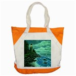 Jerrys Lighthouse -  Ave Hurley - Wrap Canvas Version Accent Tote Bag