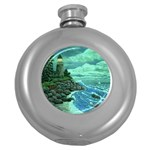 Jerrys Lighthouse -  Ave Hurley - Wrap Canvas Version Hip Flask (5 oz)