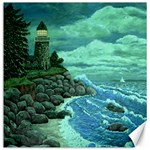 Jerrys Lighthouse -  Ave Hurley - Wrap Canvas Version Canvas 12  x 12