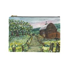 amish Apple Blossoms  By Ave Hurley Of Artrevu   Cosmetic Bag (large) by ArtRave2