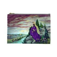 Jesus Overlooking Jerusalem   Ave Hurley   Artrave   Cosmetic Bag (large) by ArtRave2