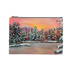 jane s Winter Sunset   By Ave Hurley Of Artrevu   Cosmetic Bag (large) by ArtRave2
