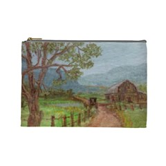 amish Buggy Going Home  By Ave Hurley Of Artrevu   Cosmetic Bag (large) by ArtRave2