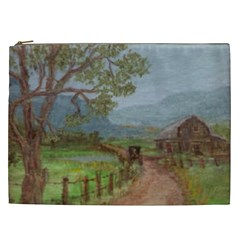 amish Buggy Going Home  By Ave Hurley Of Artrevu   Cosmetic Bag (xxl) by ArtRave2