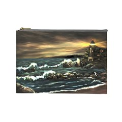 bridget s Lighthouse   By Ave Hurley Of Artrevu   Cosmetic Bag (large) by ArtRave2