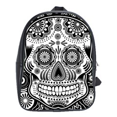 Skull School Bag (large) by Ancello