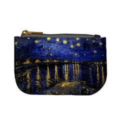 Vincent Van Gogh Starry Night Over The Rhone Coin Change Purse by fineartgallery