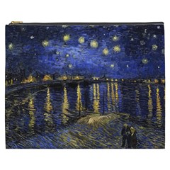 Vincent Van Gogh Starry Night Over The Rhone Cosmetic Bag (xxxl) by MasterpiecesOfArt