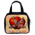 Vintage Valentine Hearts Classic Handbag (Two Sides)