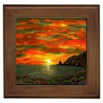 Alyssa s Sunset -Ave Hurley ArtRevu.com- Framed Tile