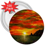 Alyssa s Sunset -Ave Hurley ArtRevu.com- 3  Button (100 pack)