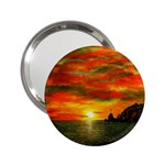 Alyssa s Sunset -Ave Hurley ArtRevu.com- 2.25  Handbag Mirror