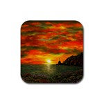 Alyssa s Sunset -Ave Hurley ArtRevu.com- Rubber Square Coaster (4 pack)