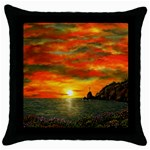 Alyssa s Sunset -Ave Hurley ArtRevu.com- Throw Pillow Case (Black)