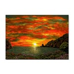 Alyssa s Sunset -Ave Hurley ArtRevu.com- Sticker A4 (10 pack)