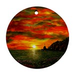 Alyssa s Sunset -Ave Hurley ArtRevu.com- Round Ornament (Two Sides)