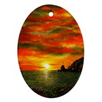 Alyssa s Sunset -Ave Hurley ArtRevu.com- Oval Ornament (Two Sides)