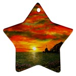 Alyssa s Sunset -Ave Hurley ArtRevu.com- Star Ornament (Two Sides)