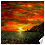 Alyssa s Sunset -Ave Hurley ArtRevu.com- Canvas 12  x 12