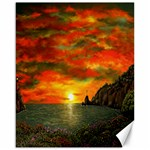 Alyssa s Sunset -Ave Hurley ArtRevu.com- Canvas 16  x 20