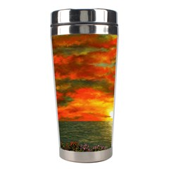 Alyssa s Sunset Stainless Steel Travel Tumbler from Art2Do Left
