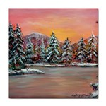 Jane s Winter Sunset -AveHurley ArtRevu.com- Tile Coaster