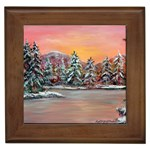 Jane s Winter Sunset -AveHurley ArtRevu.com- Framed Tile