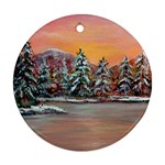 Jane s Winter Sunset -AveHurley ArtRevu.com- Ornament (Round)