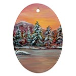 Jane s Winter Sunset -AveHurley ArtRevu.com- Ornament (Oval)