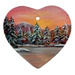 Jane s Winter Sunset -AveHurley ArtRevu.com- Ornament (Heart)