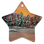 Jane s Winter Sunset -AveHurley ArtRevu.com- Ornament (Star)